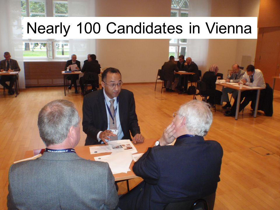 Nearly 100 Candidates in Vienna