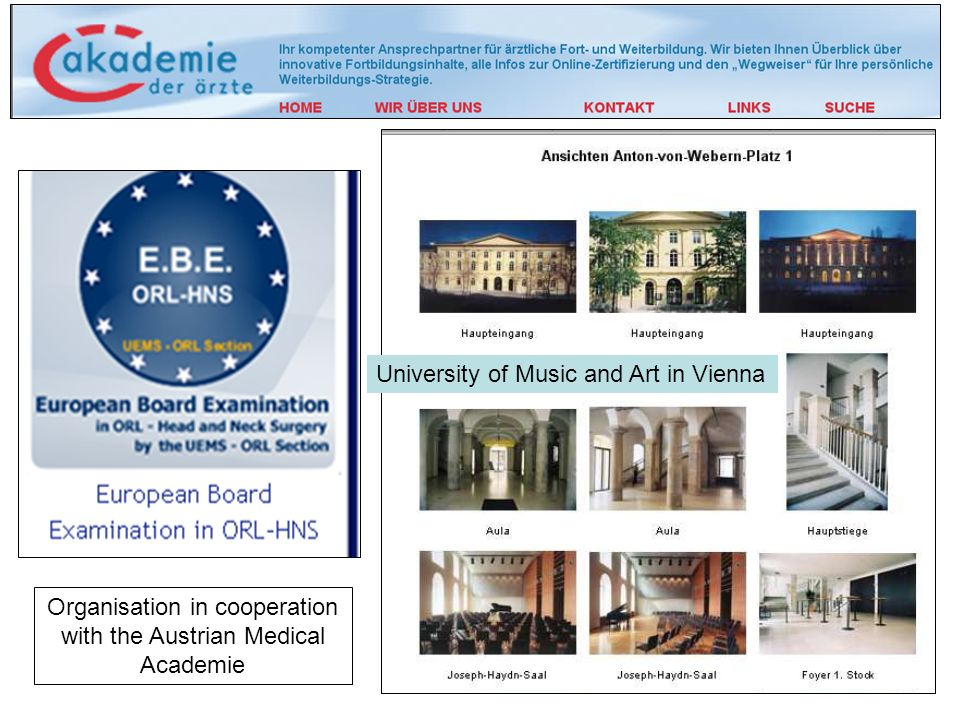 Organisation in cooperation with the Austrian Medical Academie