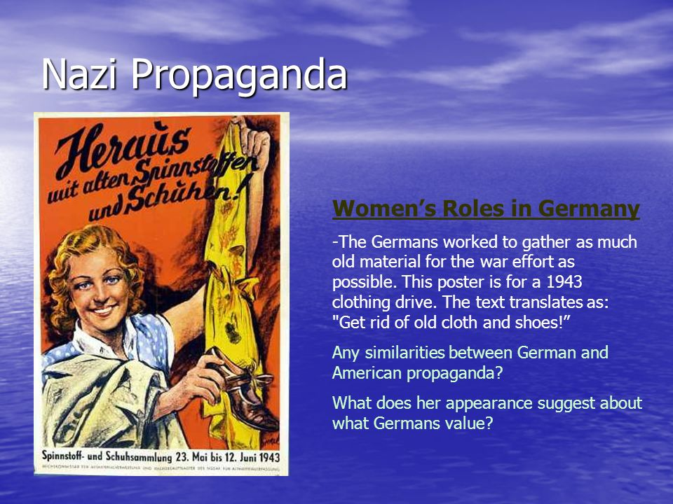 Nazi Propaganda Women's Roles in Germany