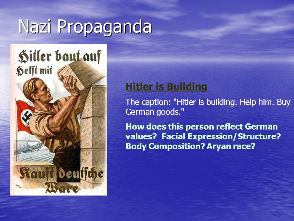 Nazi Propaganda Hitler is Building