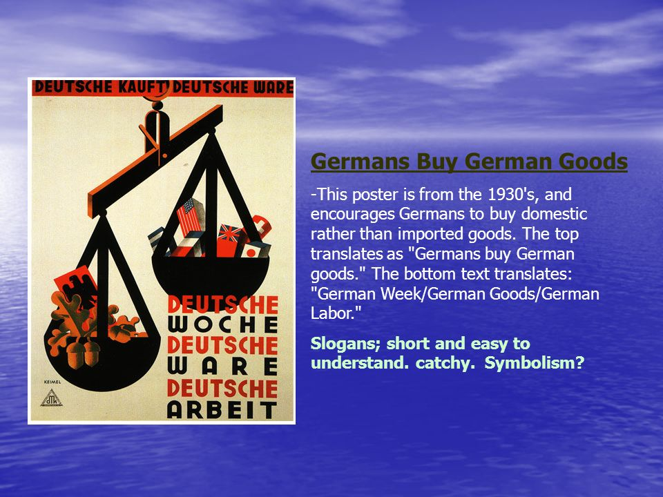 Germans Buy German Goods