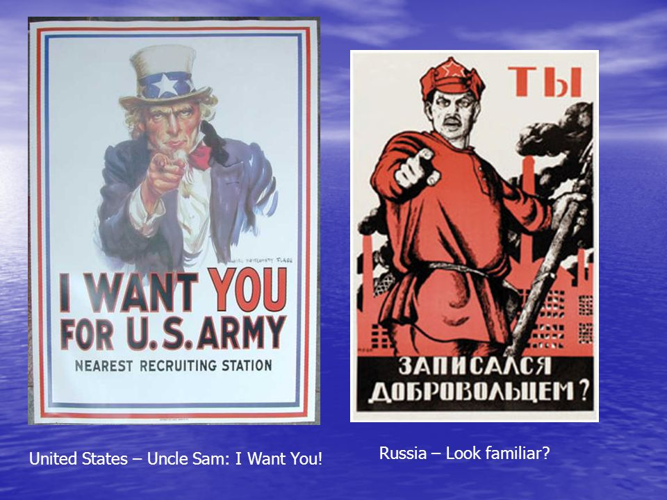 Russia – Look familiar United States – Uncle Sam: I Want You!