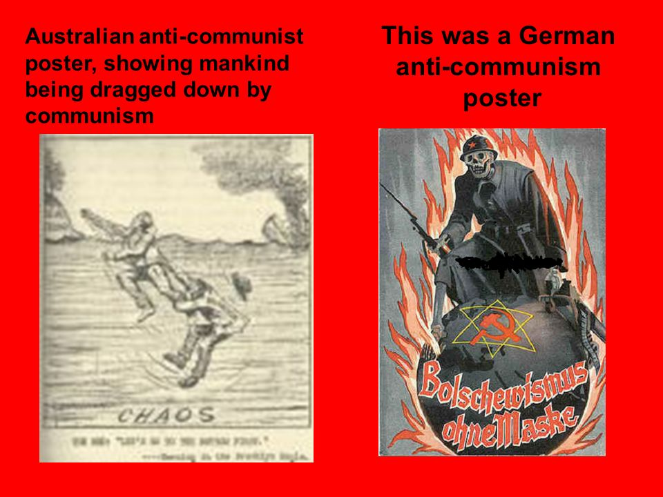 This was a German anti-communism poster