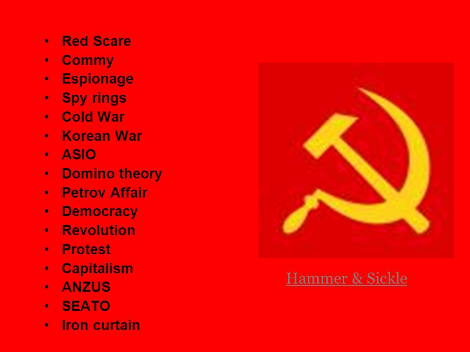 Key Words associated with Communism