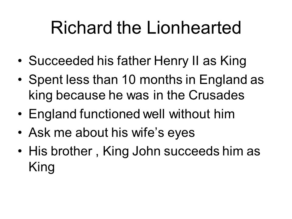 Richard the Lionhearted