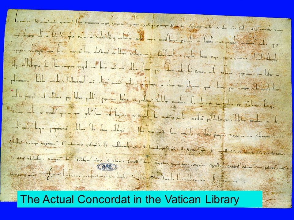 The Actual Concordat in the Vatican Library