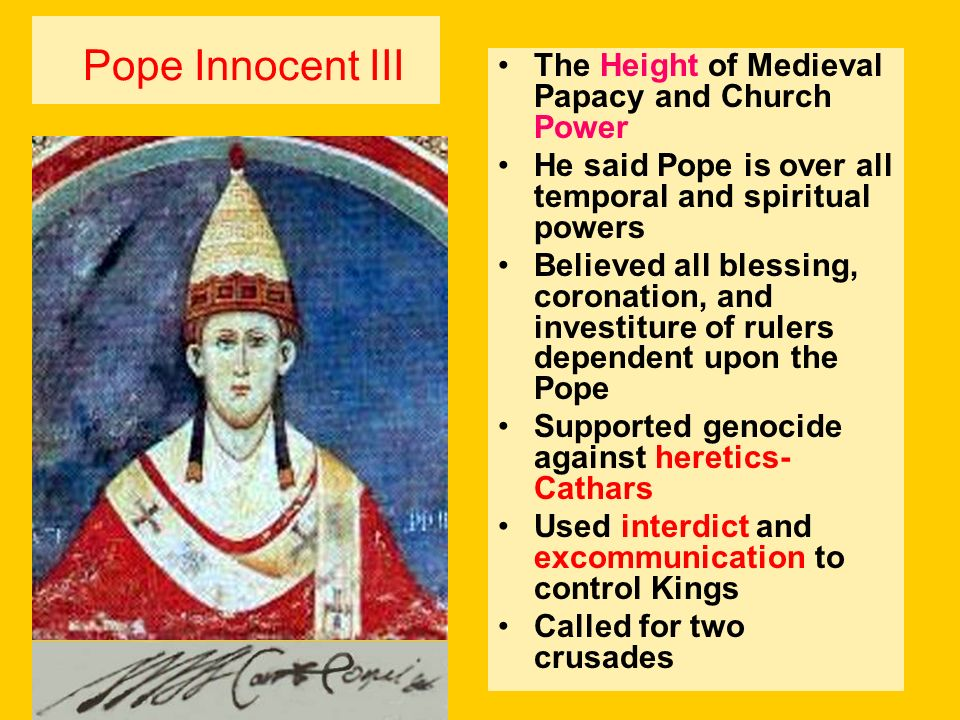 Pope Innocent III The Height of Medieval Papacy and Church Power