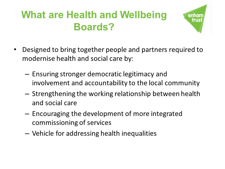 What are Health and Wellbeing Boards