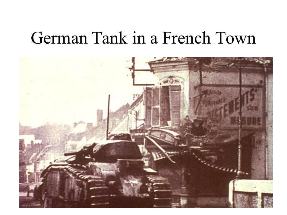 German Tank in a French Town