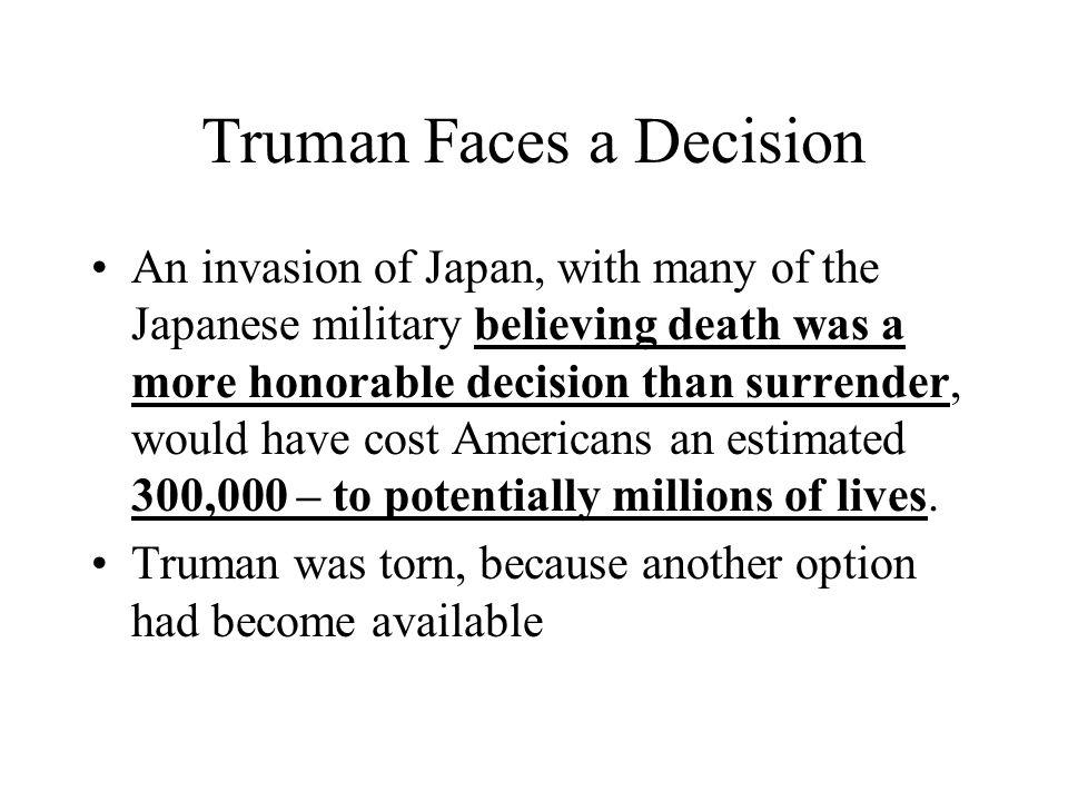 Truman Faces a Decision