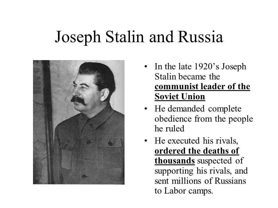 Joseph Stalin and Russia