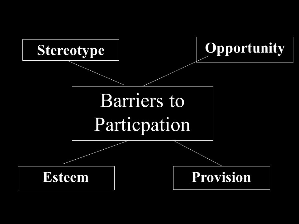 Barriers to Particpation