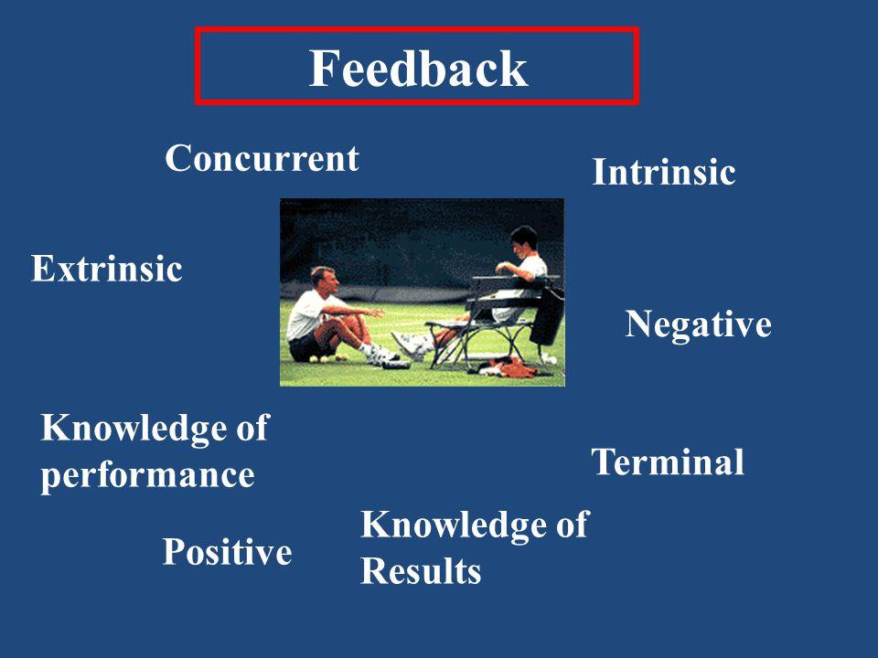 Feedback Concurrent Intrinsic Extrinsic Negative