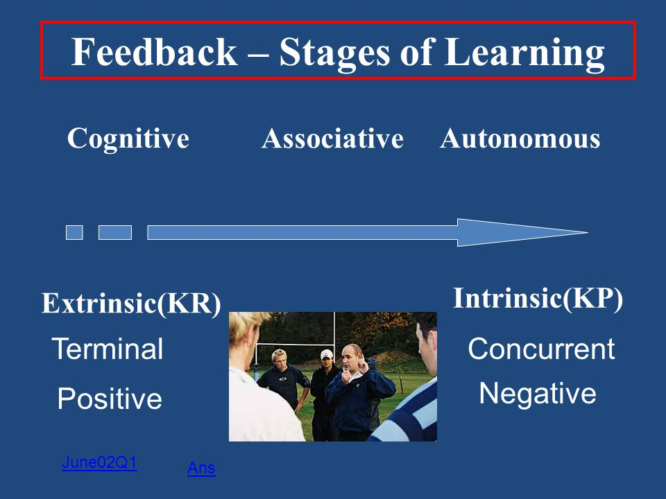 Feedback – Stages of Learning