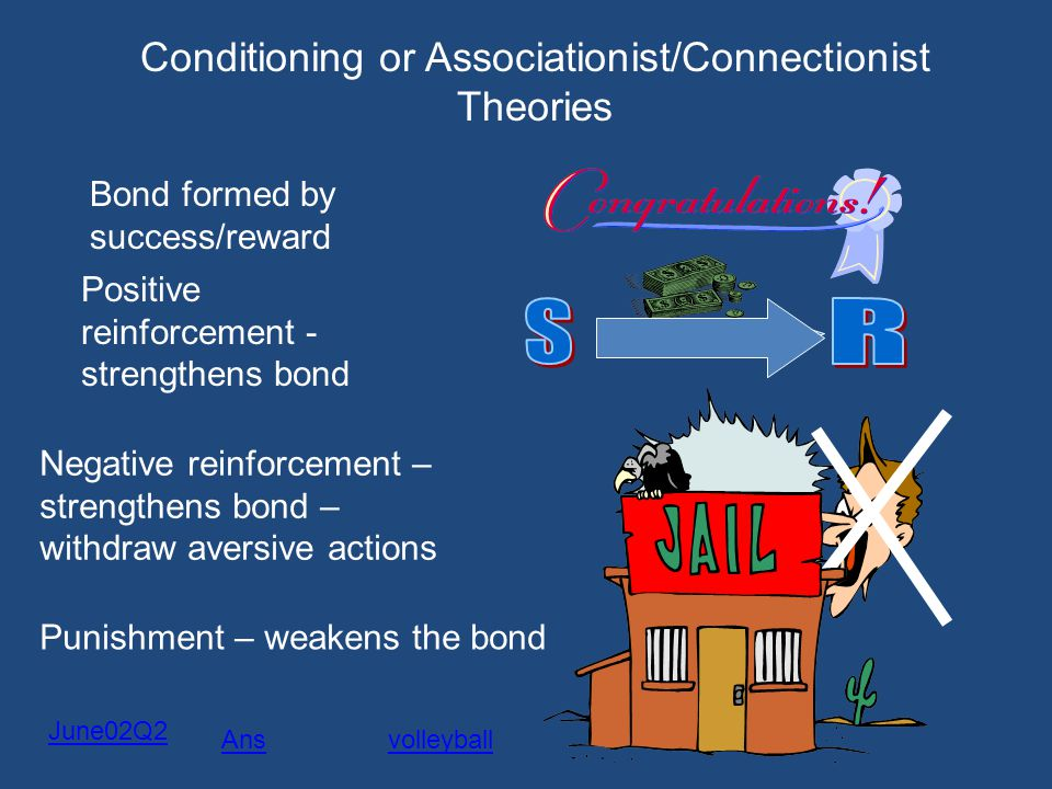 Conditioning or Associationist/Connectionist Theories