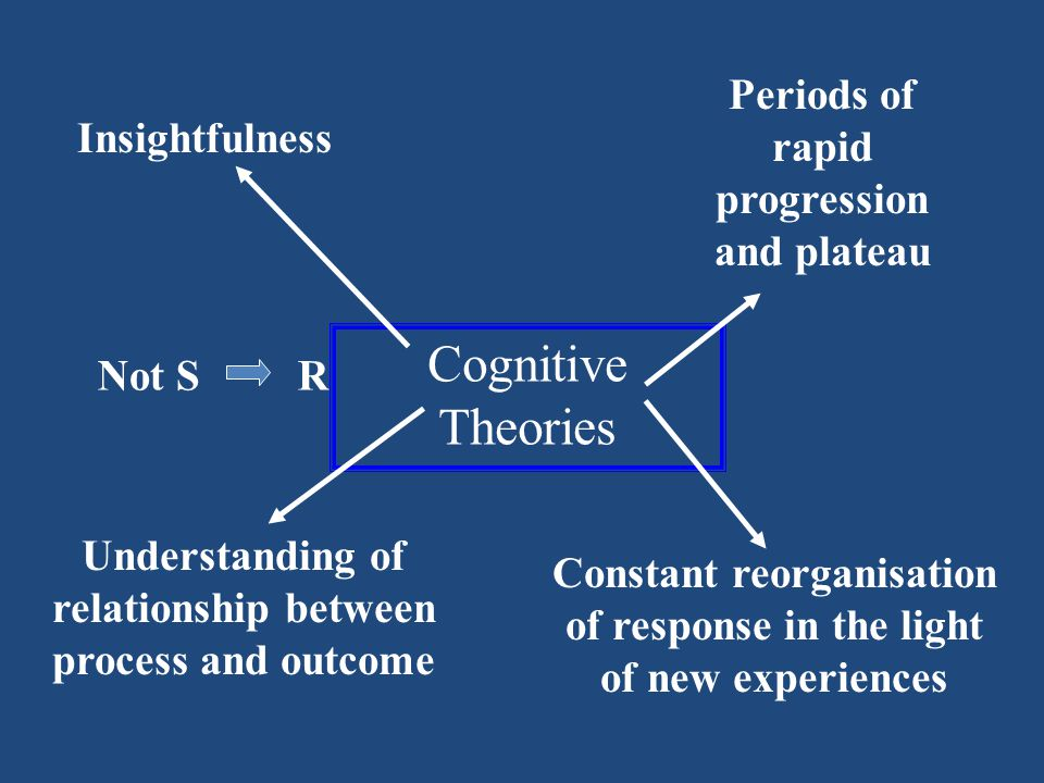 Cognitive Theories Periods of rapid progression and plateau