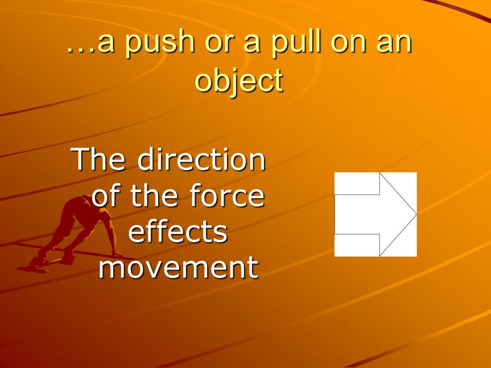 …a push or a pull on an object