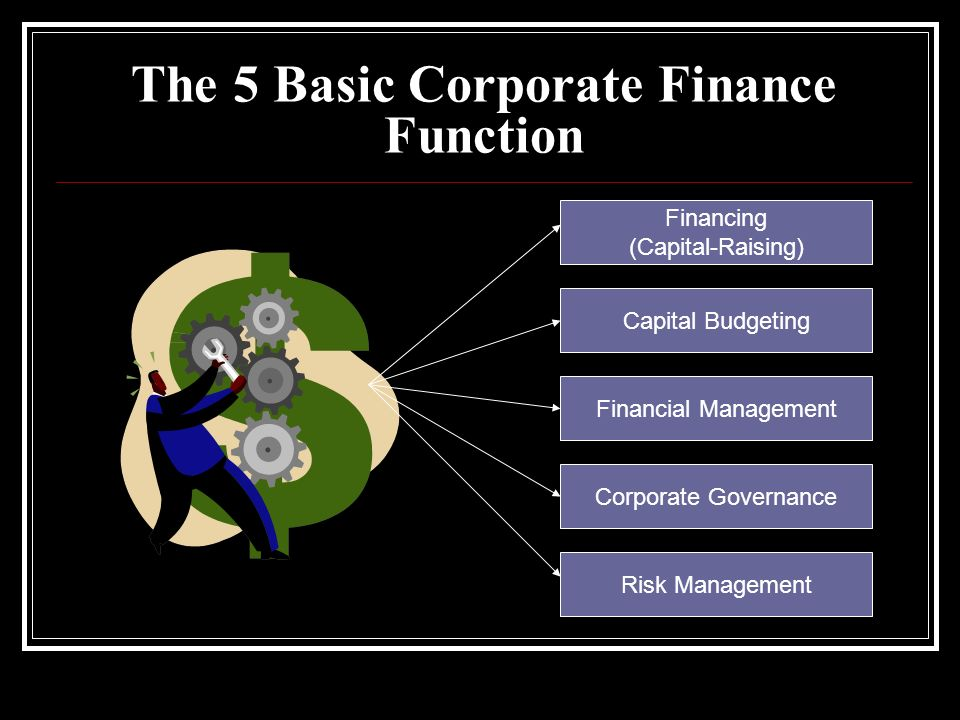 The 5 Basic Corporate Finance Function