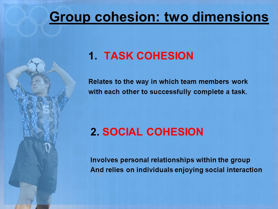 Group cohesion: two dimensions