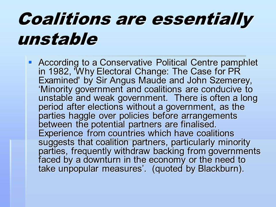 Coalitions are essentially unstable
