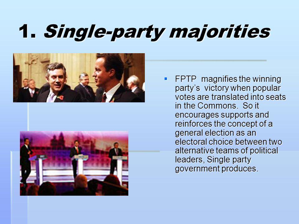 1. Single-party majorities