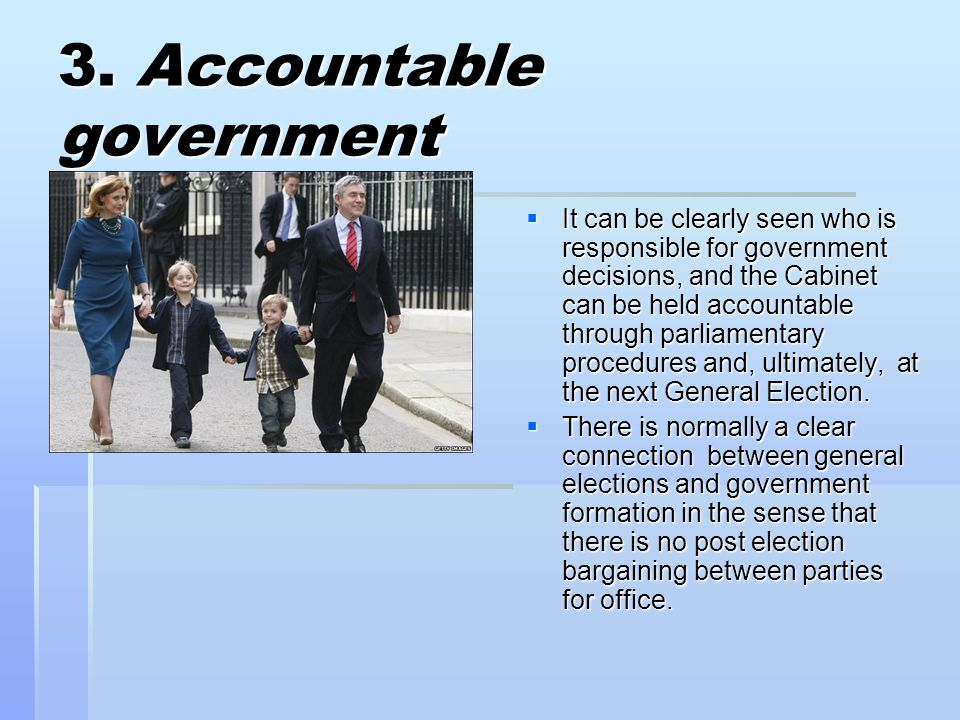 3. Accountable government
