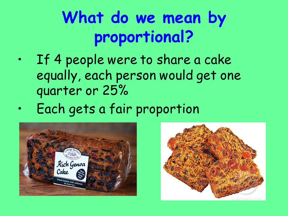 What do we mean by proportional