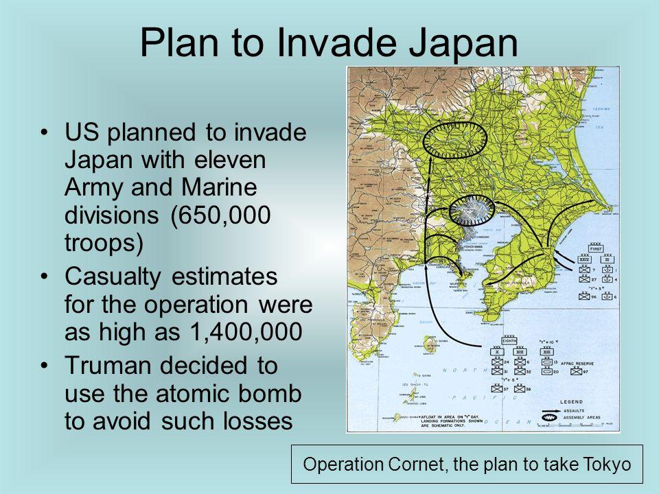 Operation Cornet, the plan to take Tokyo