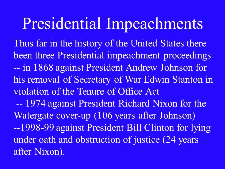 Presidential Impeachments