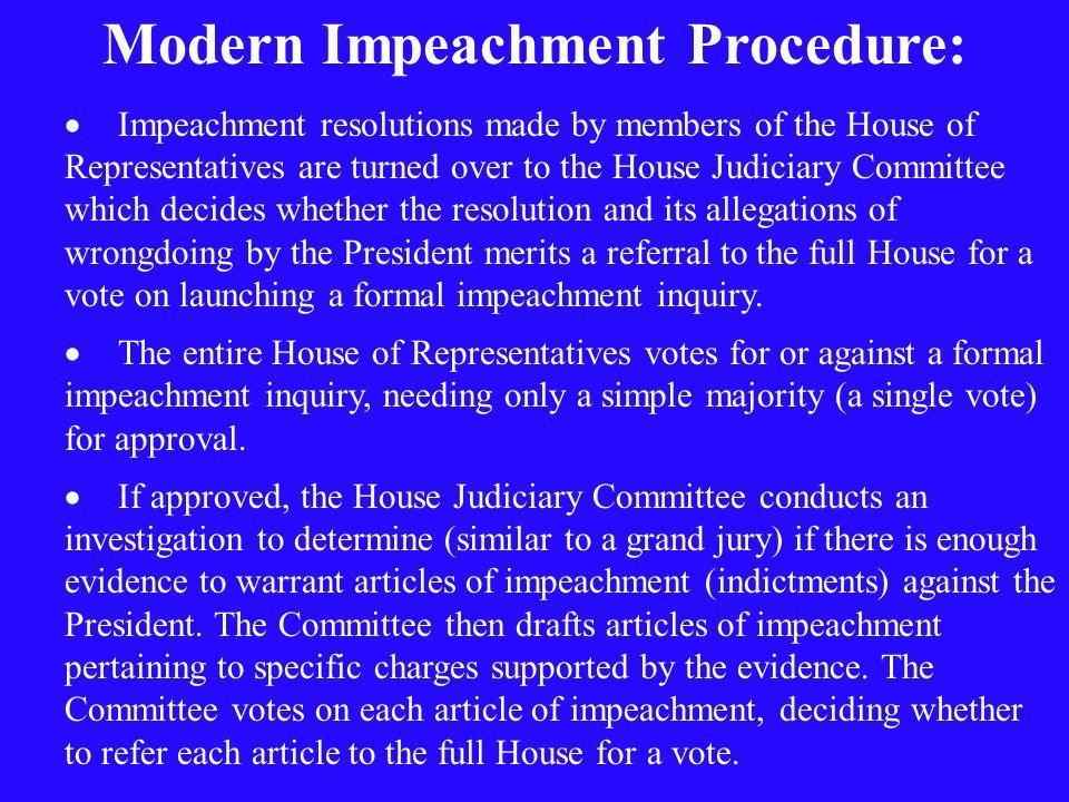 Modern Impeachment Procedure: