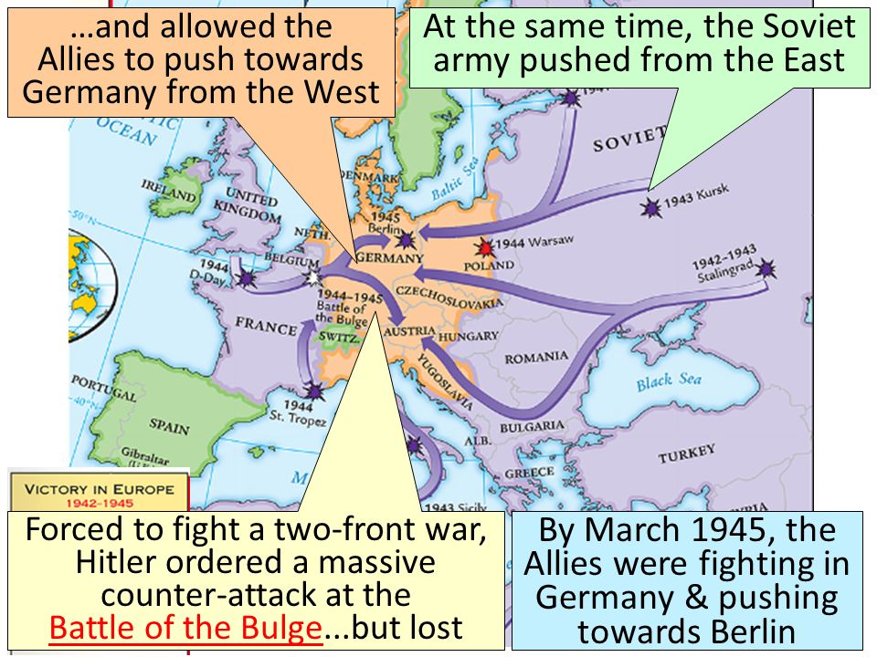 …and allowed the Allies to push towards Germany from the West