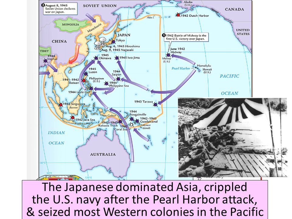 The Japanese dominated Asia, crippled the U. S