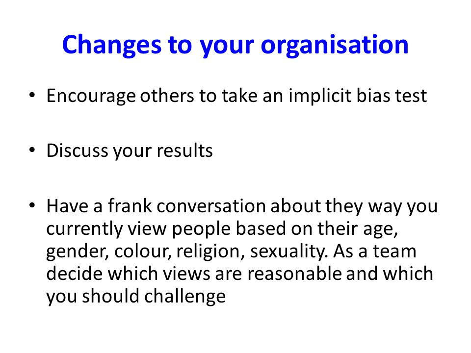 Changes to your organisation