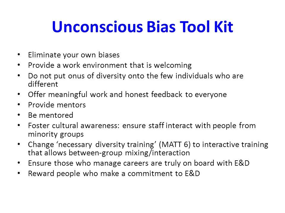 Unconscious Bias Tool Kit