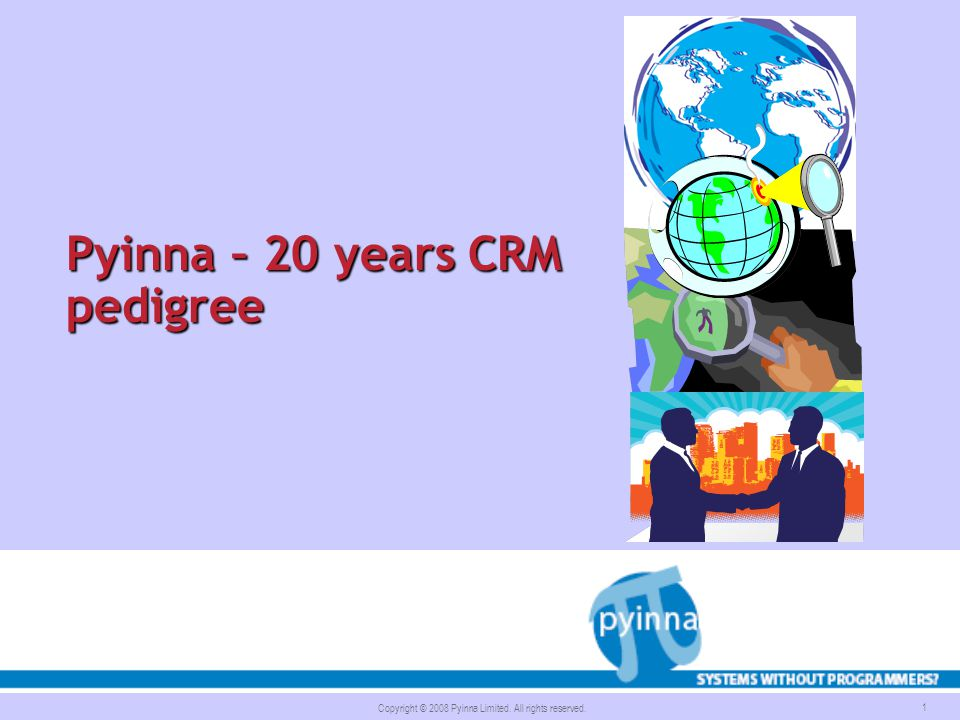 Pyinna – 20 years CRM pedigree