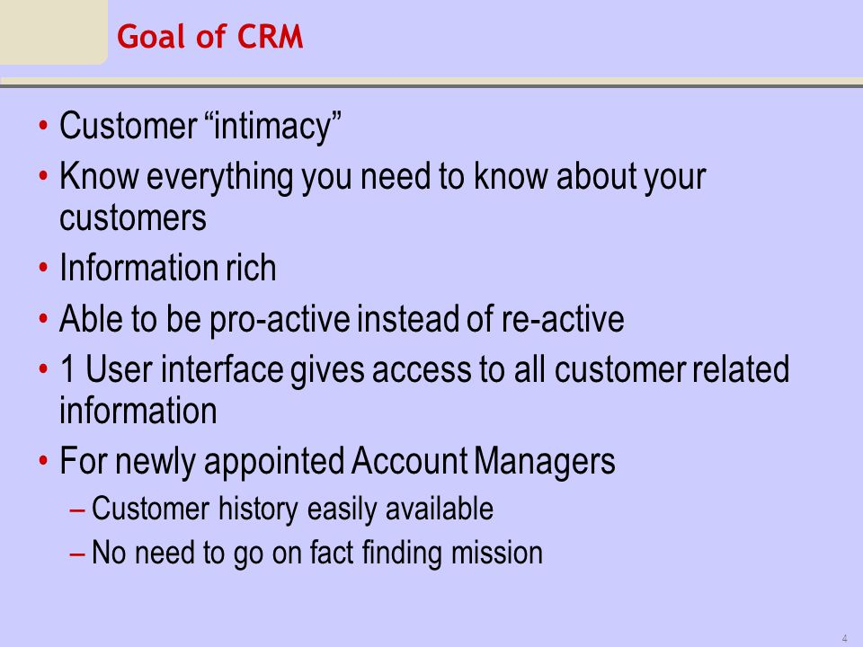 Know everything you need to know about your customers Information rich