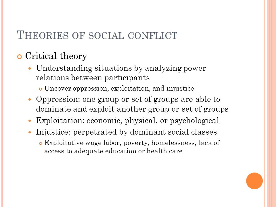 Theories of social conflict