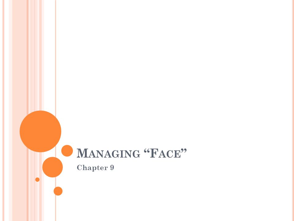 Managing Face Chapter 9