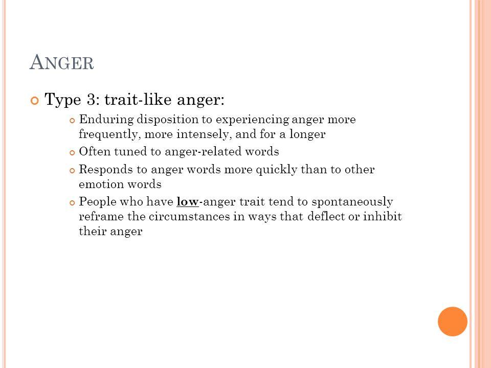 Anger Type 3: trait-like anger: