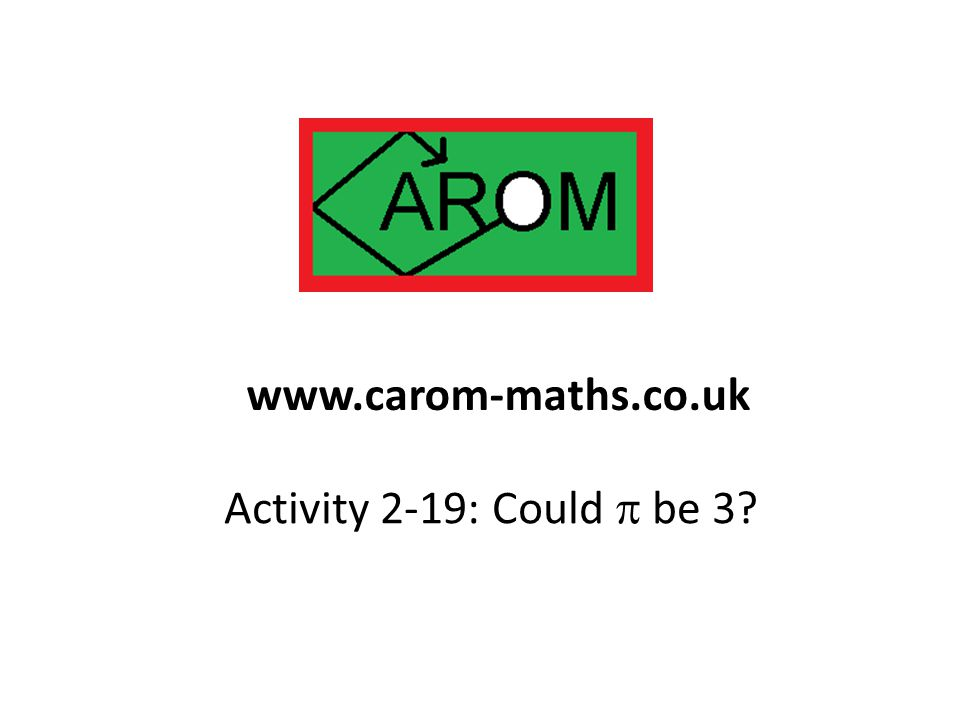 www.carom-maths.co.uk Activity 2-19: Could p be 3