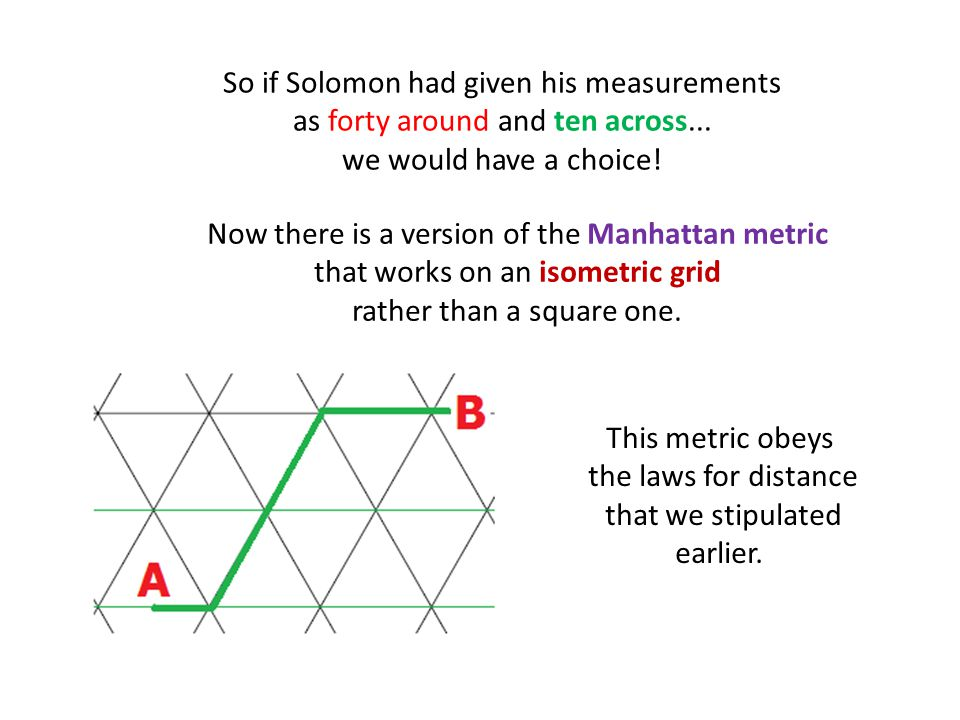 So if Solomon had given his measurements