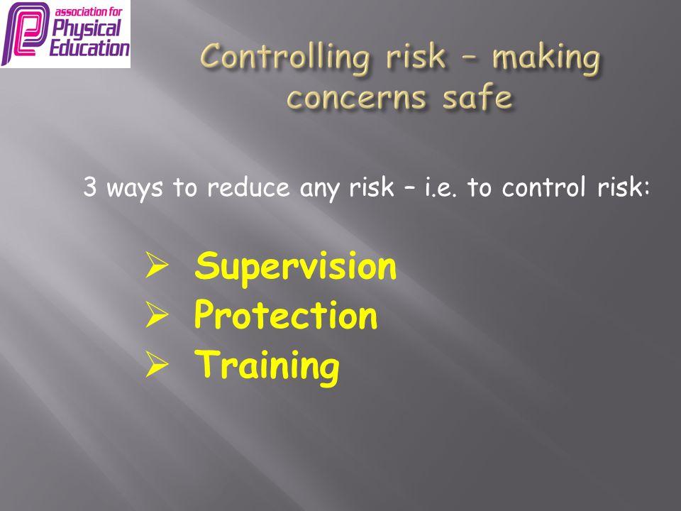 Controlling risk – making concerns safe
