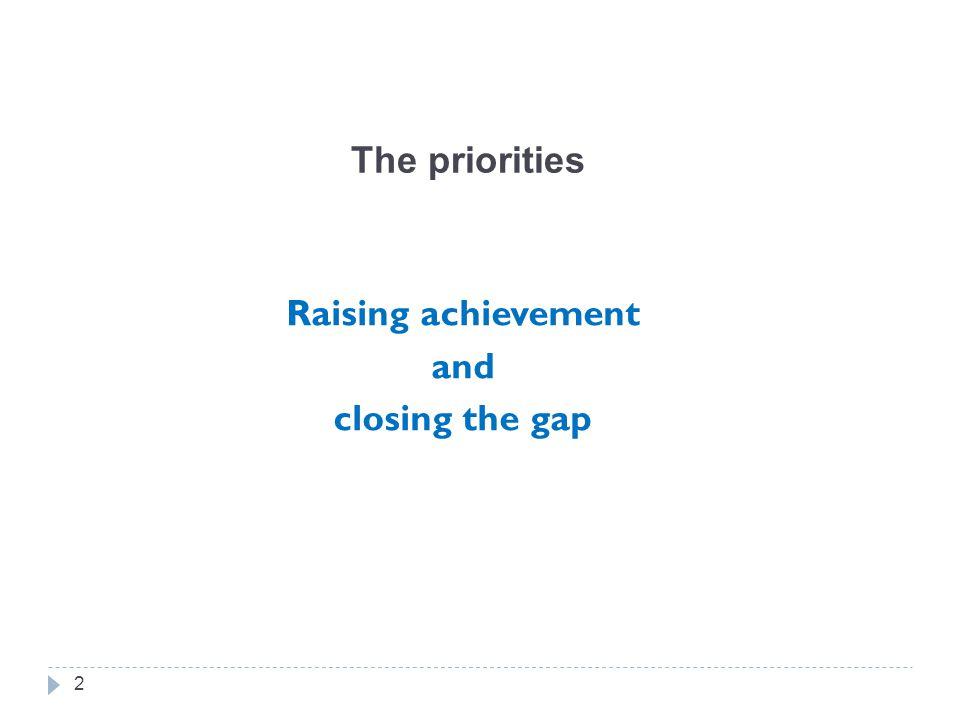 Raising achievement and closing the gap