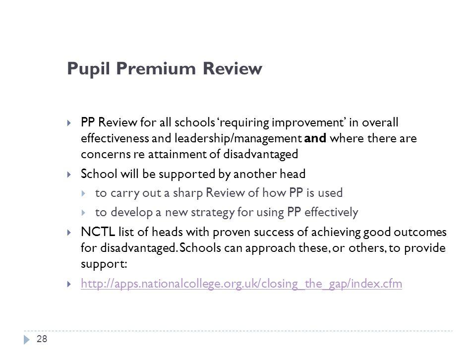 Pupil Premium Review