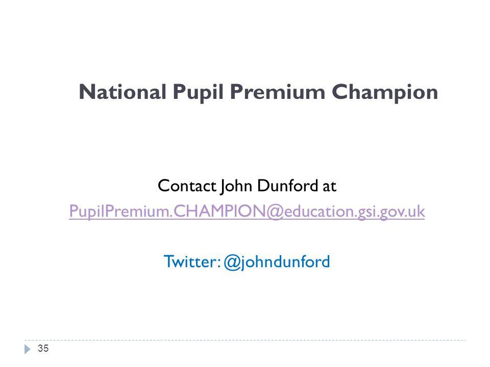 National Pupil Premium Champion