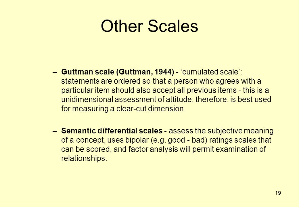 Other Scales