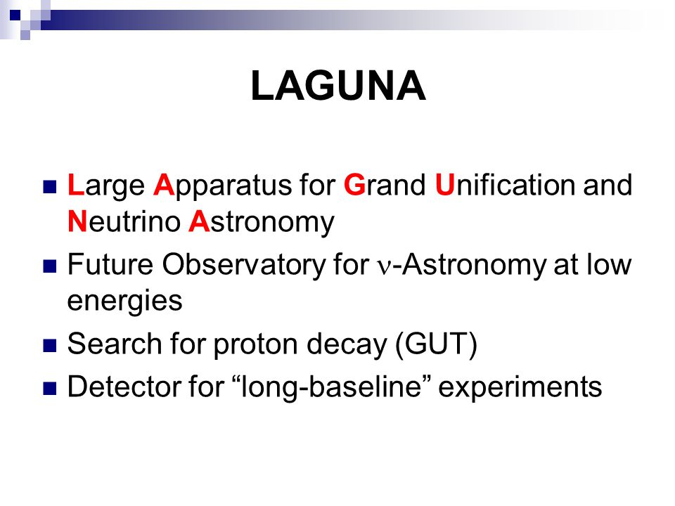 LAGUNA Large Apparatus for Grand Unification and Neutrino Astronomy
