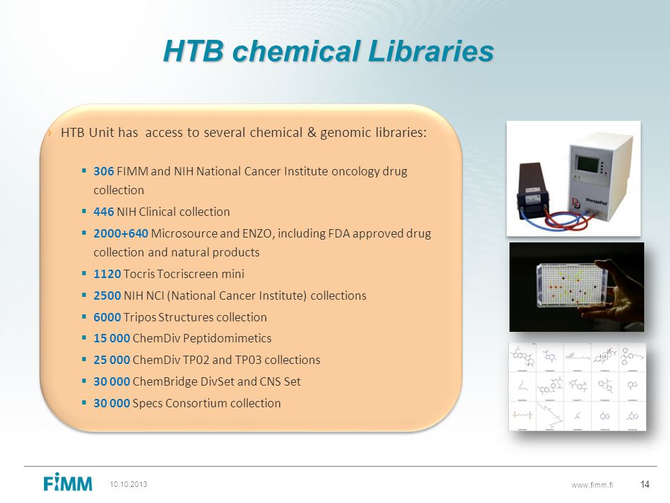 HTB chemical Libraries