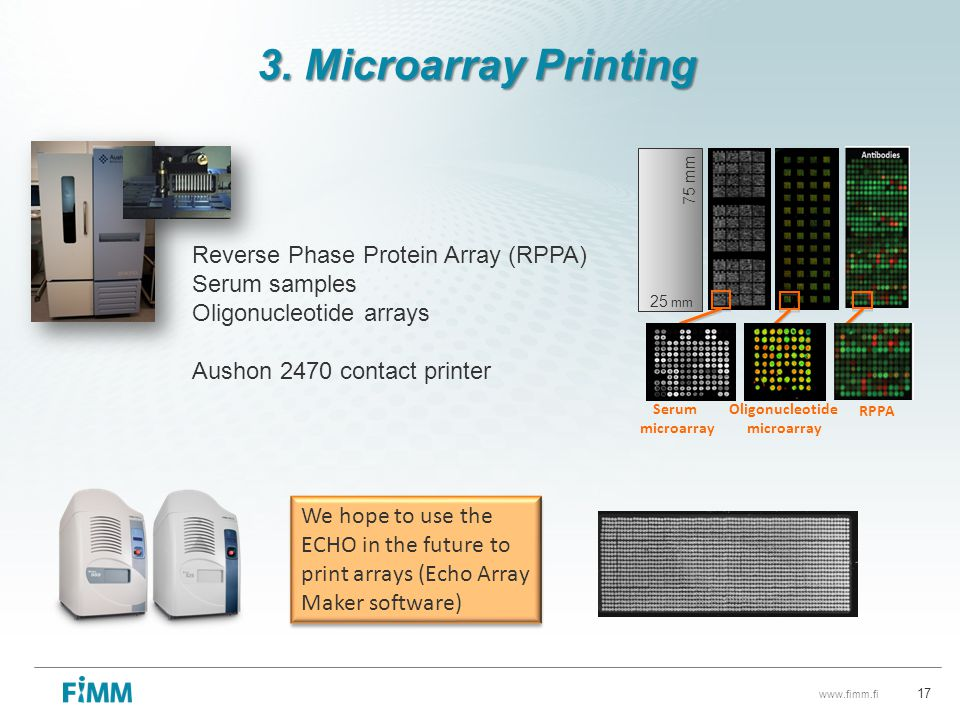 3. Microarray Printing Reverse Phase Protein Array (RPPA)