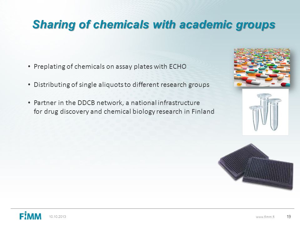 Sharing of chemicals with academic groups